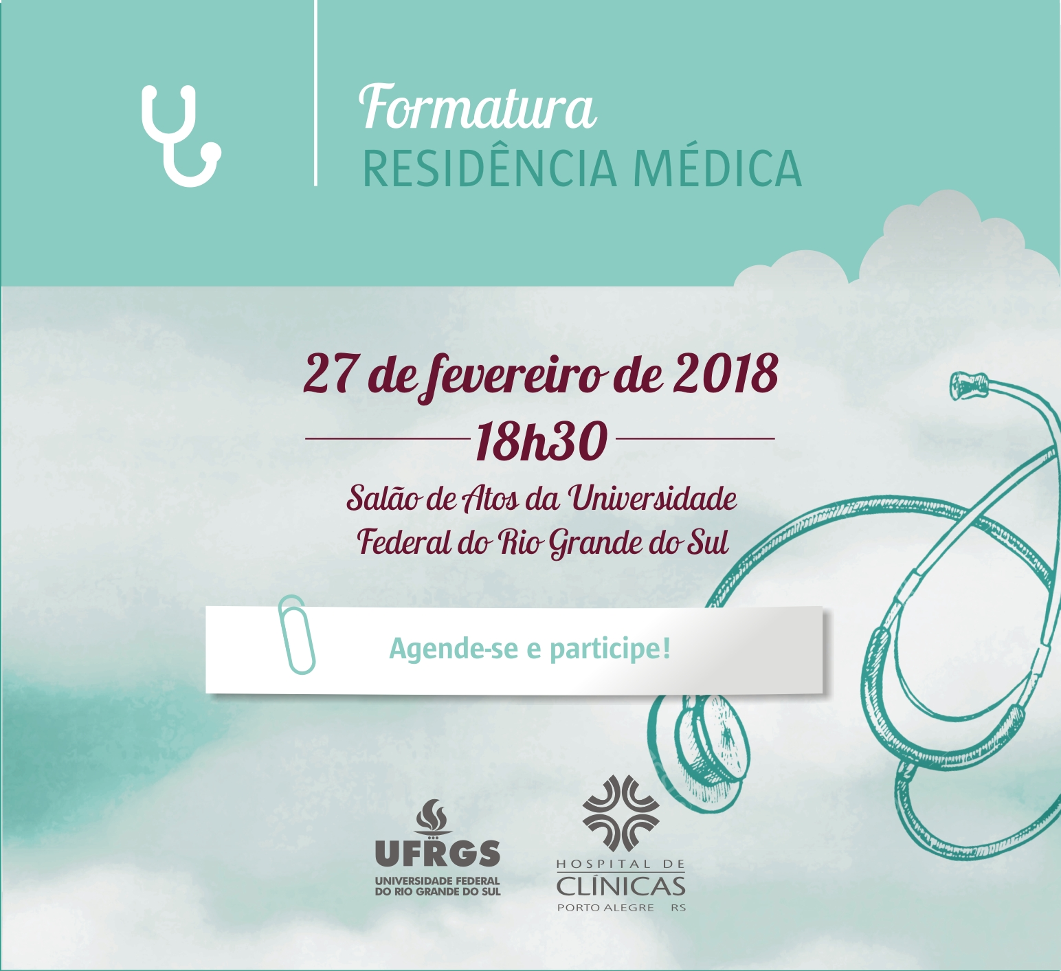 formatura medica save the date 2018